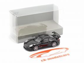 Porsche 911 GT2 RS Byggeår 2018 sort / kulstof 1:87 Minichamps