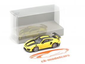 Porsche 911 GT2 RS Baujahr 2018 gelb / carbon 1:87 Minichamps
