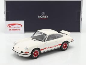 Porsche 911 Carrera 2.7 RS Byggeår 1973 hvid / rød 1:18 Norev