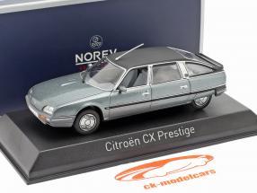Citroen CX Turbo 2 Prestige year 1986 blue-gray metallic 1:43 Norev