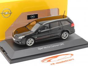 Opel Vectra Caravan OPC Preto 1:43 Schuco