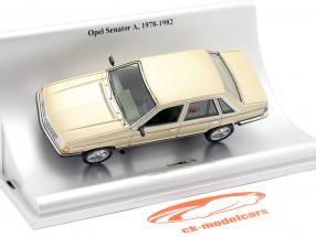 Opel Senator A Ano de construção 1978-1982 ouro metálico 1:43 Schuco
