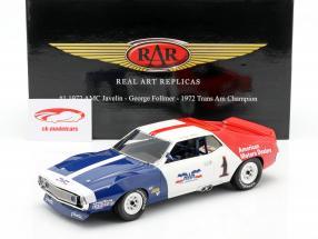 AMC Javelin #1 Trans Am campione 1972 George Follmer 1:18 Real Art Replicas