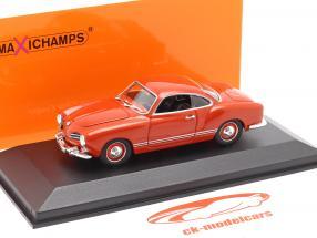 Volkswagen VW Karmann Ghia coupe Anno di costruzione 1955 rosso 1:43 Minichamps