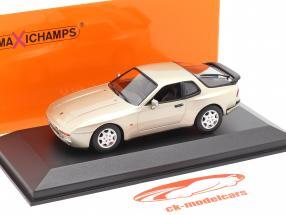 Porsche 944 S2 Ano de construção 1989 bege metálico 1:43 Minichamps