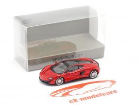 McLaren 570 GT Ano de construção 2016 vulcão vermelho 1:87 Minichamps