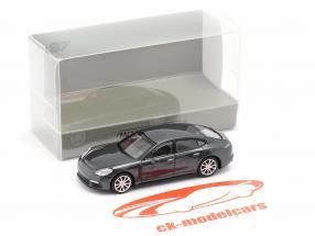 Porsche Panamera 4S Année de construction 2015 gris métallique 1:87 Minichamps