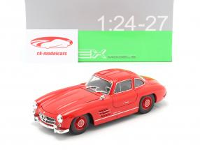 Mercedes-Benz 300 SL rood 1:24 Welly