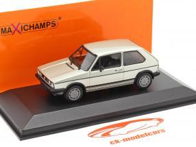 Volkswagen VW Golf 1 GTI year 1983 silver metallic 1:43 Minichamps