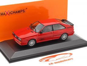 Audi Quattro Anno di costruzione 1980 rosso 1:43 Minichamps