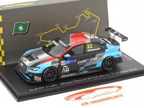 Audi RS 3 LMS #22 Gagnant Race 2 WTCR Macau Guia Race 2018 Frederic Vervisch 1:43 Spark