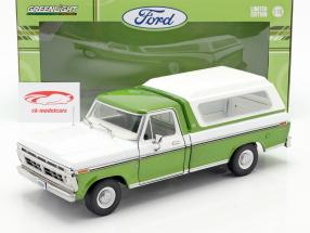 Ford F-100 Raccogliere Anno di costruzione 1976 Con copertina verde / bianca 1:18 Greenlight