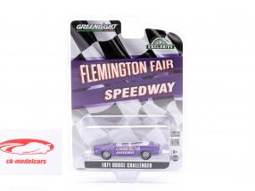 Dodge Challenger Convertible Pace Car Flemington Fair Speedway 1971 lilla 1:64 Greenlight