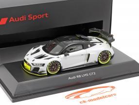 Audi R8 LMS GT2 Apresentação Car cinzento / Preto / luz verde 1:43 Spark