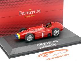 Juan Manuel Fangio Ferrari D50 #1 champion du monde formule 1 1956 1:43 Atlas