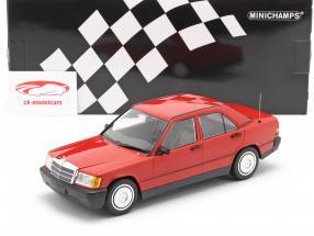 Mercedes-Benz 190E (W201) Bouwjaar 1982 rood 1:18 Minichamps