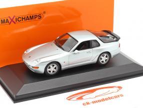 Porsche 968 CS Bouwjaar 1993 zilver metalen 1:43 Minichamps