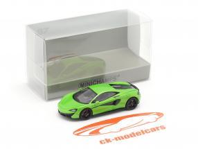McLaren 570 S Bouwjaar 2016 groen 1:87 Minichamps