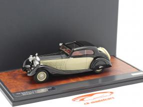 Rolls Royce Phantom II Continental Sports Coupe 1935 sort / fløde 1:43 Matrix