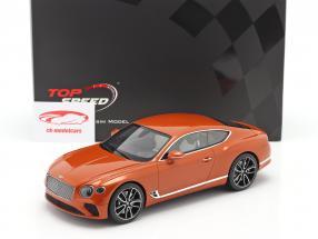 Bentley Continental GT Coupe Anno di costruzione 2018 arancia fiamma 01:18 TrueScale