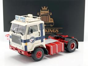 Volvo F88 Vrachtauto Polar Express 1965 Wit / blauw / rood 1:18 Road Kings
