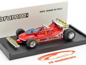 G. Villeneuve Ferrari 312 T4 Test Car #12 Winnaar GP USA West F1 1979 1:43 Brumm