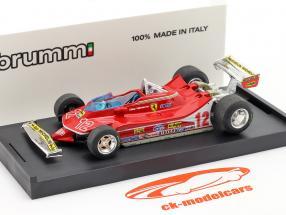 G. Villeneuve Ferrari 312 T4 #12 Segundo GP Francia Fórmula 1 1979 1:43 Brumm