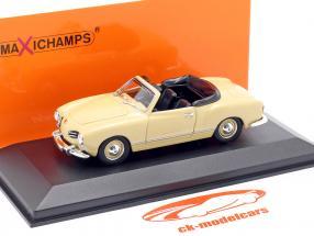 Volkswagen VW Karmann Ghia Cabriolet 1955 creme-beige 1:43 Minichamps
