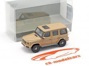 Mercedes-Benz Clase G (W463) Año de construcción 2018 arena beige 1:87 Minichamps