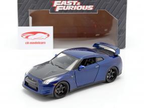 Nissan GT-R (R35) Jaar 2009 Fast and Furious 7 2015 donkerblauw 1:24 Jada Toys