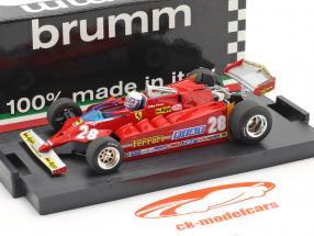 D. Pironi Ferrari 126CK Tubro COMPREX USA GP di Formula 1 1981 1:43 Brumm