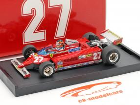 G. Villeneuve Ferrari 126CK #27 GP di Monaco di Formula 1 1981 1:43 Brumm