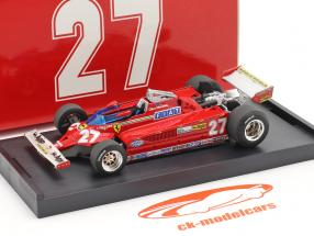 Gilles Villeneuve Ferrari 126CK #27 italiano GP fórmula 1 1981 1:43 Brumm