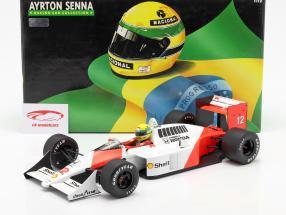 Ayrton Senna McLaren MP4/4 #12 Campeão mundial Fórmula 1 1988 1:12 Minichamps