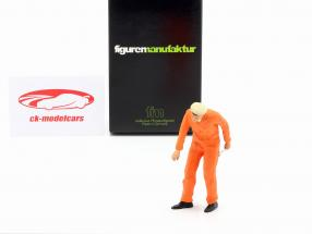 Mecánico con naranja Mono Figura 1:18 FigurenManufaktur
