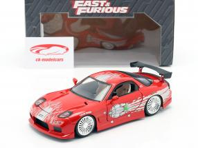 Dom's Mazda RX-7 Fast and Furious red 1:24 Jada Toys