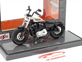 Harley Davidson Forty-Eight Special Australian Version 2018 negro / Blanco 1:18 Maisto