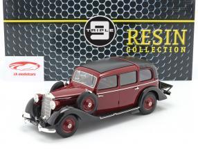 Mercedes-Benz 260 D (W138) Pullman Landaulet 1936 borgoña rojo 1:18 Triple9