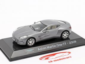 Aston Martin One-77 Byggeår 2009 sølvgrå metallisk 1:43 Altaya
