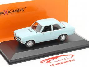 Opel Ascona A year 1970 light blue 1:43 Minichamps