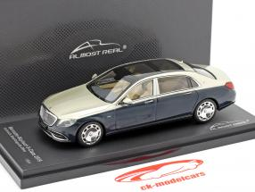 Mercedes-Maybach Classe S 2019 anthracite bleu / aragonite argent 1:43 Almost Real