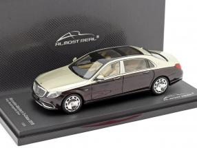 Mercedes-Maybach Clase S 2019 rubí negro / aragonito plata 1:43 Almost Real