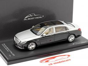 Mercedes-Maybach S klasse 2019 obsidian zwart / iridium zilver 1:43 Almost Real