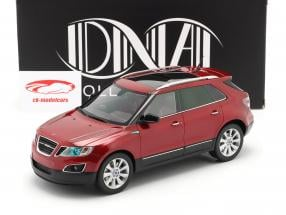 Saab 9-4X year 2011 red 1:18 DNA Collectibles