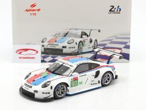 Porsche 911 RSR GTE #93 3rd LMGTE Pro 24h LeMans 2019 Porsche GT Team 1:18 Spark