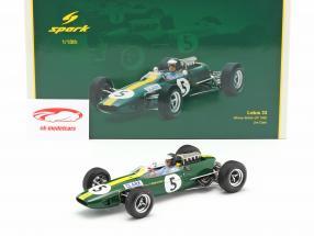 Jim Clark Lotus 33 #5 Verdensmester Storbritanien GP formel 1 1965 1:18 Spark