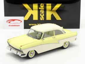 Ford Taunus 17M P2 Año de construcción 1957 amarillo claro / Blanco 1:18 KK-Scale