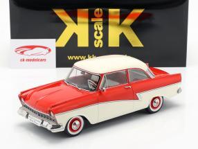 Ford Taunus 17M P2 Bouwjaar 1957 rood / Wit 1:18 KK-Scale