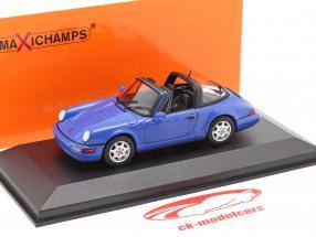 Porsche 911 (964) Carrera 2 Targa 1991 blue 1:43 Minichamps