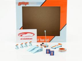 Gulf Tool Set azul / / naranja 1:18 GMP
